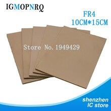 5 шт. FR4 PCB односторонняя медная плакированная пластина DIY PCB комплект ламинированная печатная плата 10x15 см