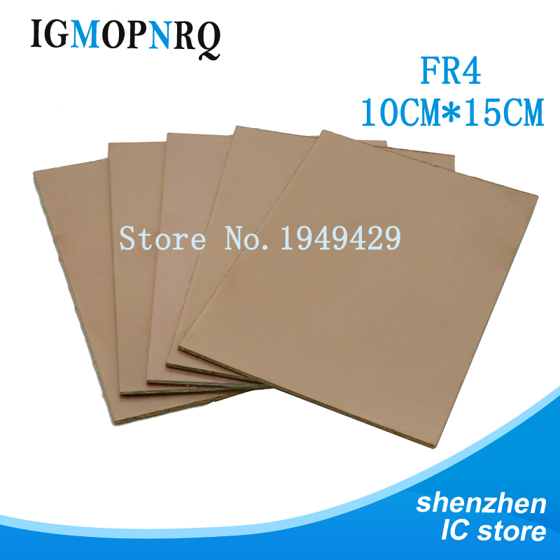 5pcs FR4 PCB Single Side Copper Clad Plate DIY PCB Kit Laminate Circuit Board 10x15cm Free Shipping