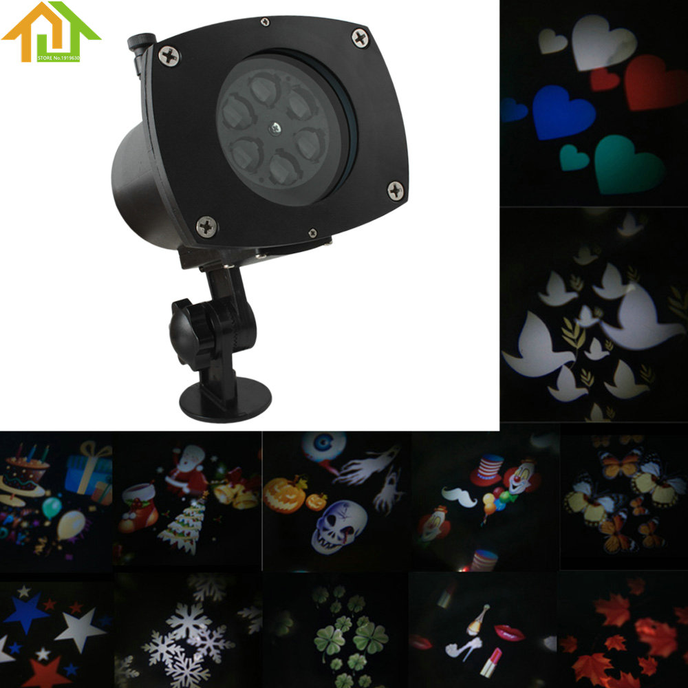 OriGlam Christmas Projector Light Replaceable Lens 12 Colorful Patterns Night Lamp Halloween Birthday Wedding Decoration Lamp
