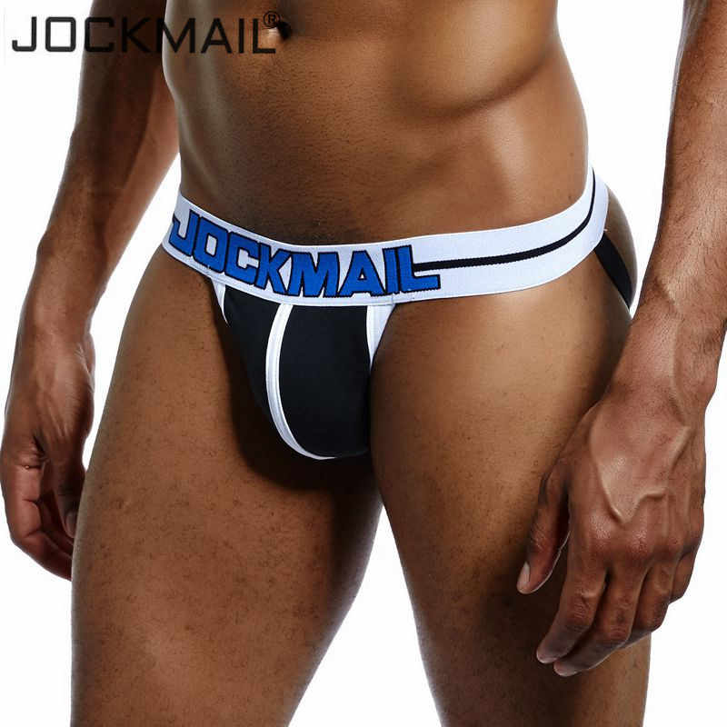 a5fd3ce38fa JOCKMAIL Hot sell Sexy Men Underwear Thong Jockstrap Backless Breathable  Mesh Jock Strap Homme Slip Erotic