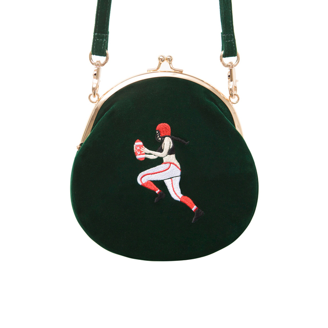 YIZI SToRe Vintage Velvet Embroidery Women Messenger Bags In Semi-circle Round Shape Original Designed(FUN KIK) 2