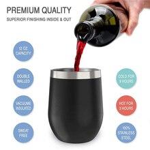 12 унций кружка из нержавеющей стали, кружки для вина, чашки в форме яиц, чашка пивная кружка, бокал для вина, кофе, термос, чашка питейная посуда кружки с крышкой F