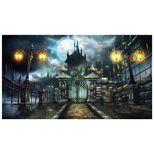 7x5FT Backdrop Background Photo Halloween Castle Vinyl Photography Prop 300cm 200cm about 10ft 6 5ft fundo coco coastal skyline3d baby photography backdrop background lk 1896
