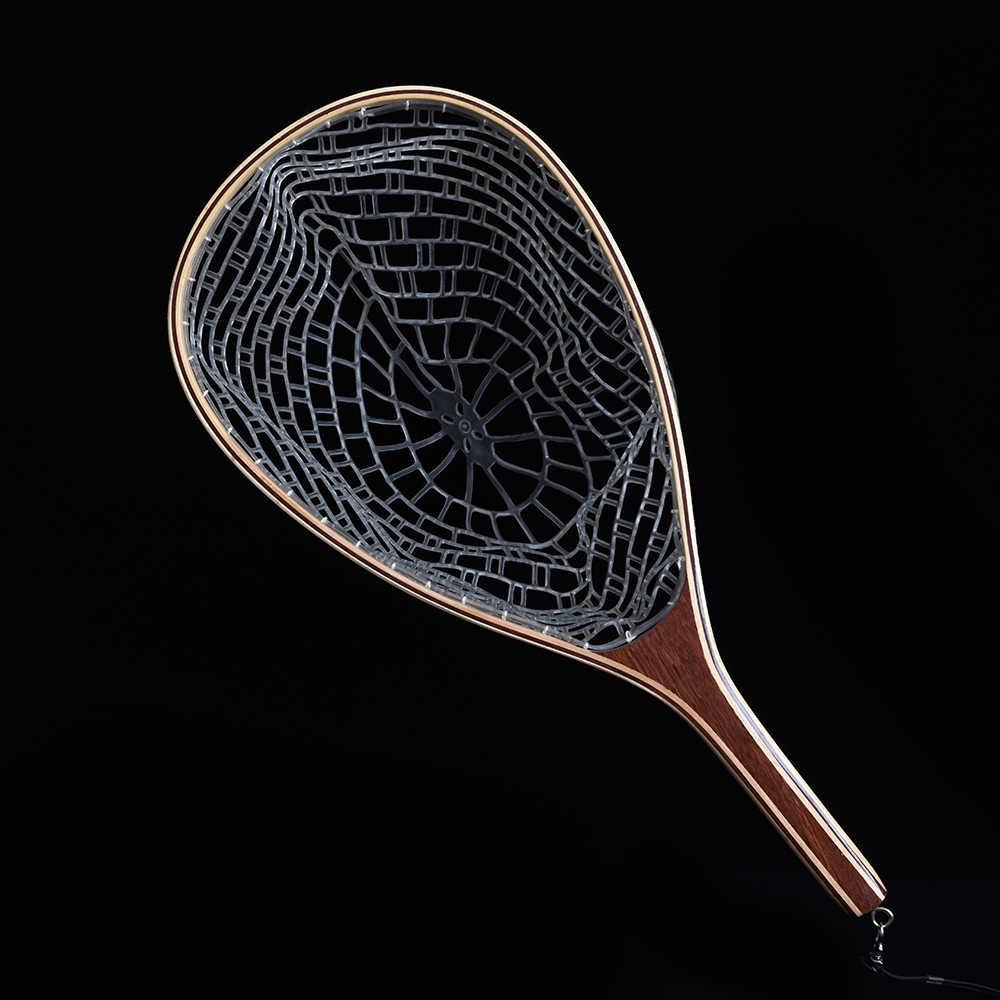 טוס דיג נטו רשת ניילון ידית עץ/גומי נחיתה נטו לתפוס ולשחרר מחזיק סל Pesca משולב ערכת פורל FishingTools