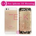 10 Шт./лот AAA высокое качество для iphone 5S Розовое Золото/Черный/Золото/Серебро назад корпус батареи дверь задняя крышка с карты лоток