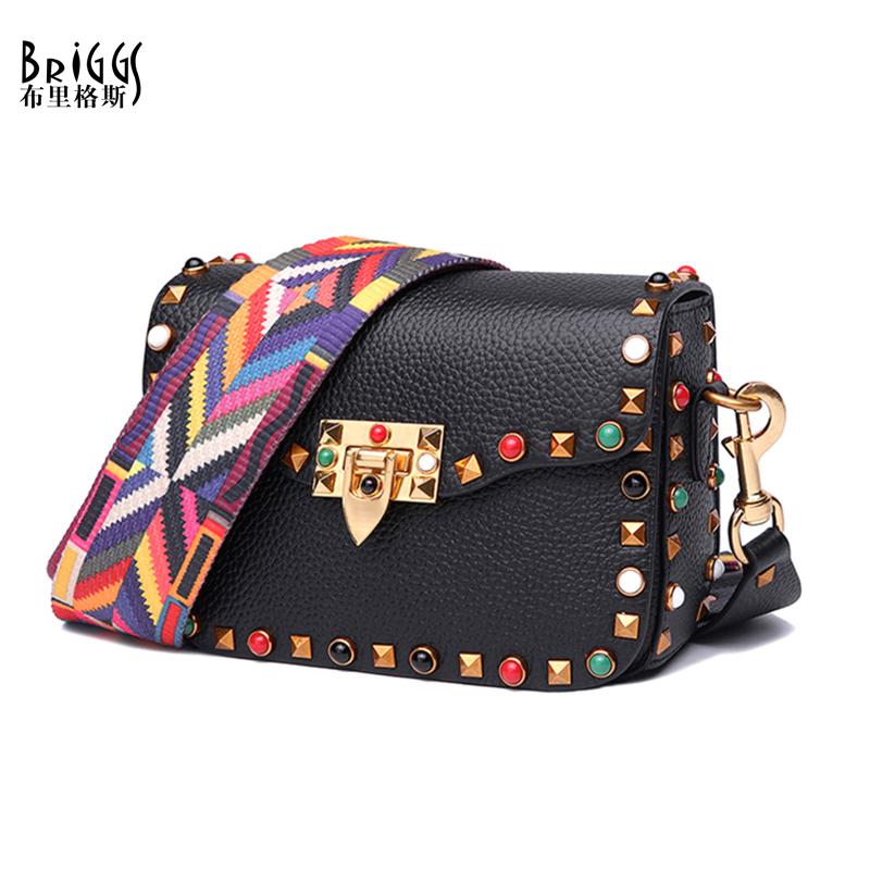 Prix pour Briggs marque nouvelle mode petit pu bandoulière en cuir sacs femmes de designer tricot sangle sac à main dames épaule messenger sacs