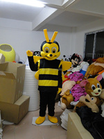 Adulto trajes de la mascota para la venta Abeja Abeja Traje de La Mascota Del Traje Del Personaje de Cosplay Abeja Envío Gratis