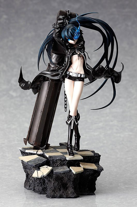 High quality 29cm Japanese sexy anime figure Black Rock Shooter Dark Miku Teenager ver. with Cannon