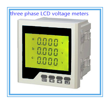 Three phase digital voltage meter LCD AC/DC voltage meter,voltmeter, voltage panel meters,high precision,free shipping
