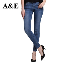 Alice & Elmer Stretch Skinny Jeans Woman Jeans For Girls Jeans Women Mid Waist Jeans Female Pants Shortened