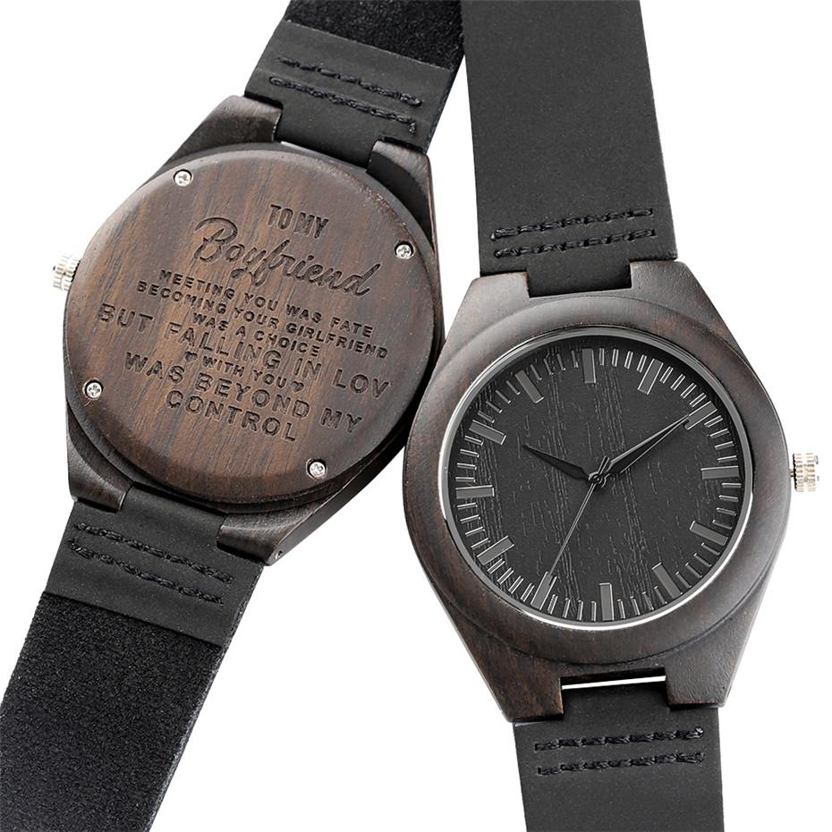 Engraved Wooden Watches For Boyfriend