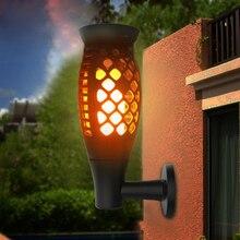 3 Shapes Solar Flame Flickering Garden LED Light IP65 Outdoor Solar Tiki  Torch Light Spotlights Landscape