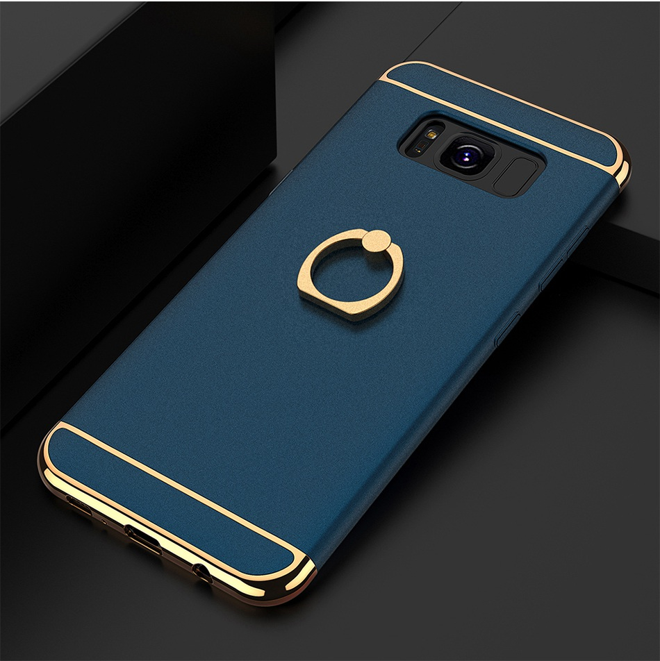 Ring Holder Cover For Samsung Galaxy S8 Plus S8 Case 3 in 1 Combo Armor Stand Phone Bag Cases  (16)