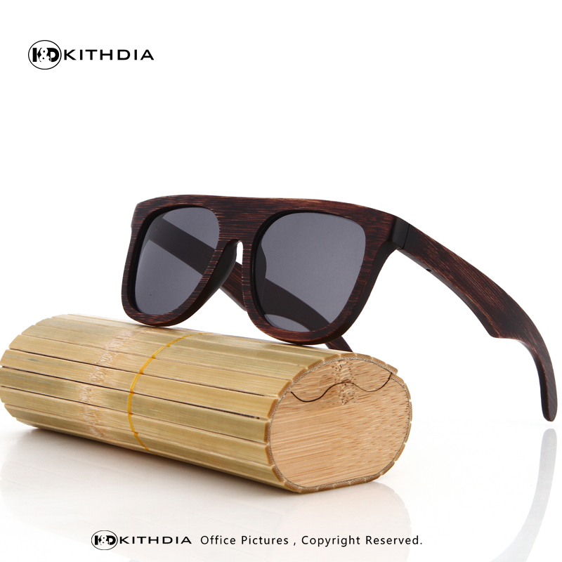 EZREAL šaunūs mediniai bambuko saulės akiniai vyrams Mediniai - Drabužių priedai - Nuotrauka 3