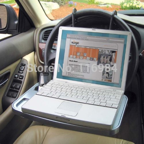 Auto Laptop Tray Table Stand Steering Wheel Mount Car Truck Suv Travel Desk