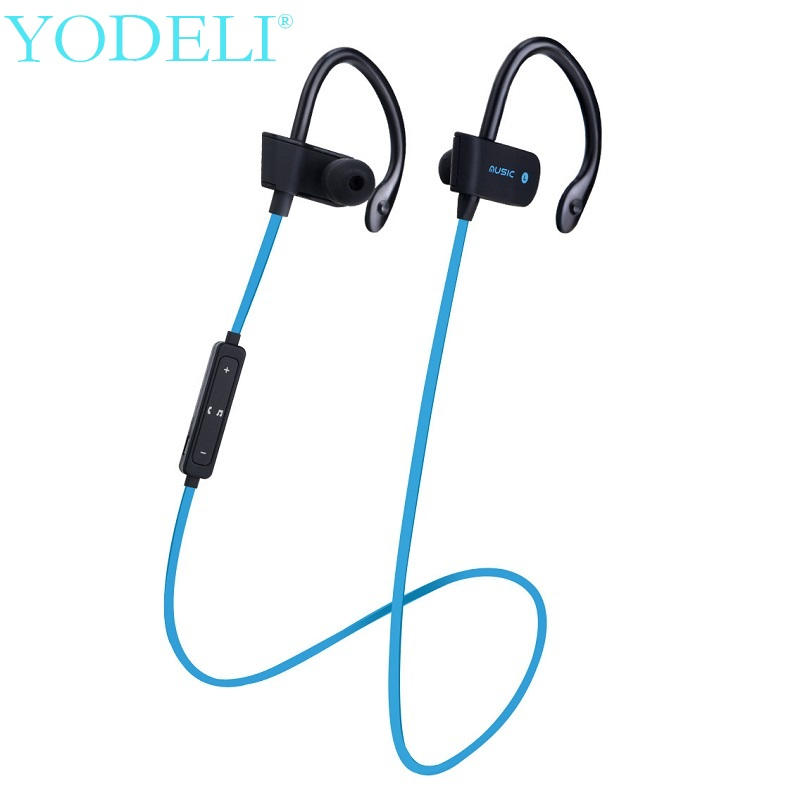 S4 Sports Bluetooth Earphone Wireless Stereo Headset Sweatproof Headphones with Mic Ear Hook Earbuds For iPhone X 8 Samsung ZTE
