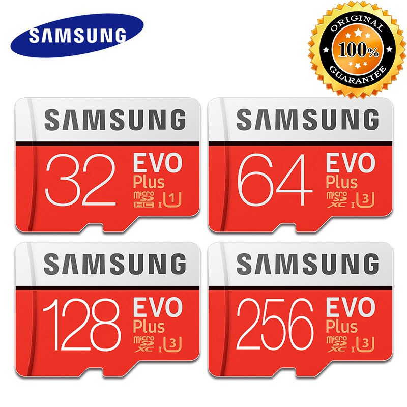 100% SAMSUNG Memory Storage Card 32GB/64GB/128GB 100MB/S 4K Class10 Micro SD Cards 256GB M