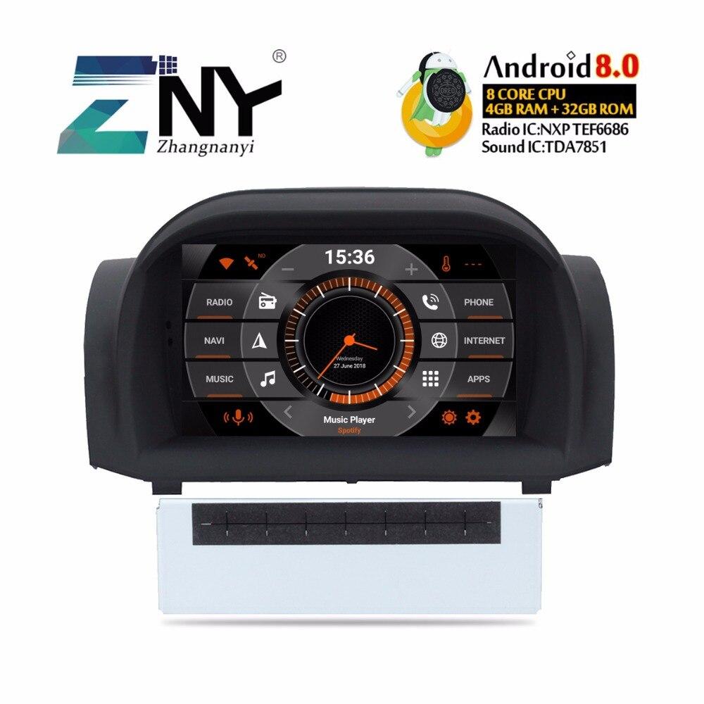 Android 8,0 Автомобильный DVD стерео 7 ips авто радио для Ford Fiesta 2013 2017 мультимедиа FM gps навигация 4 + 32 ГБ головного устройства подарок камера