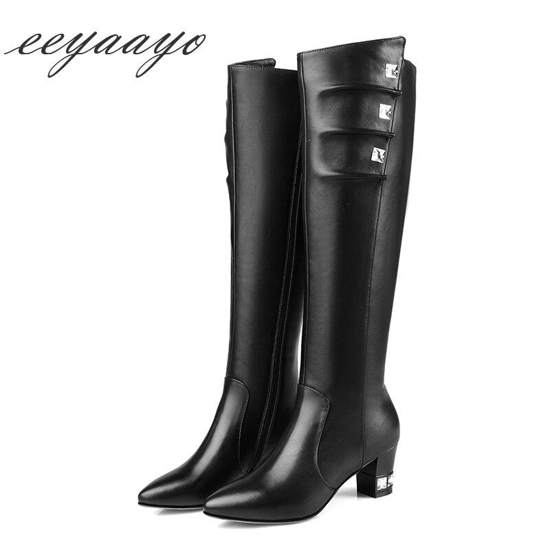fd790e8ba Nuevas-botas-altas-hasta-la-rodilla-de-cuero-genuino-de-Invierno-para-mujer -tacones-altos-con.jpg