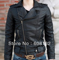 New Fashion Man long Jacket  male leather(PU)  winter coat  warmer sweatshirts  201208068