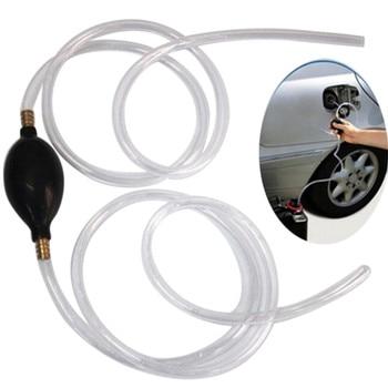 1Pc New Car Fuel Gas Pump Petrol Diesel Liquid Hand Pump Primer Bulb Water Oil Transfer Pump PVC Syphon 8mm Pipe