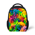 12 Inch Flower Backpack Girls Backpack,Cute Children's Candy Color 3D Printing Backbag Small Sac A Dos Kindergarten Kids Mochila