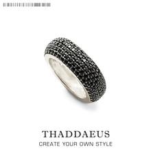 Черное коктейльное кольцо, Томас Стиль Гламурная мода хорошее Ювелирное Украшение для мужчин и женщин, Ts подарок из 925 пробы серебра, Супер предложения