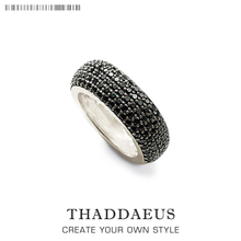 Black Pave Cocktail Ring,Thomas Style Glam Fashion Good Jewerly For Me