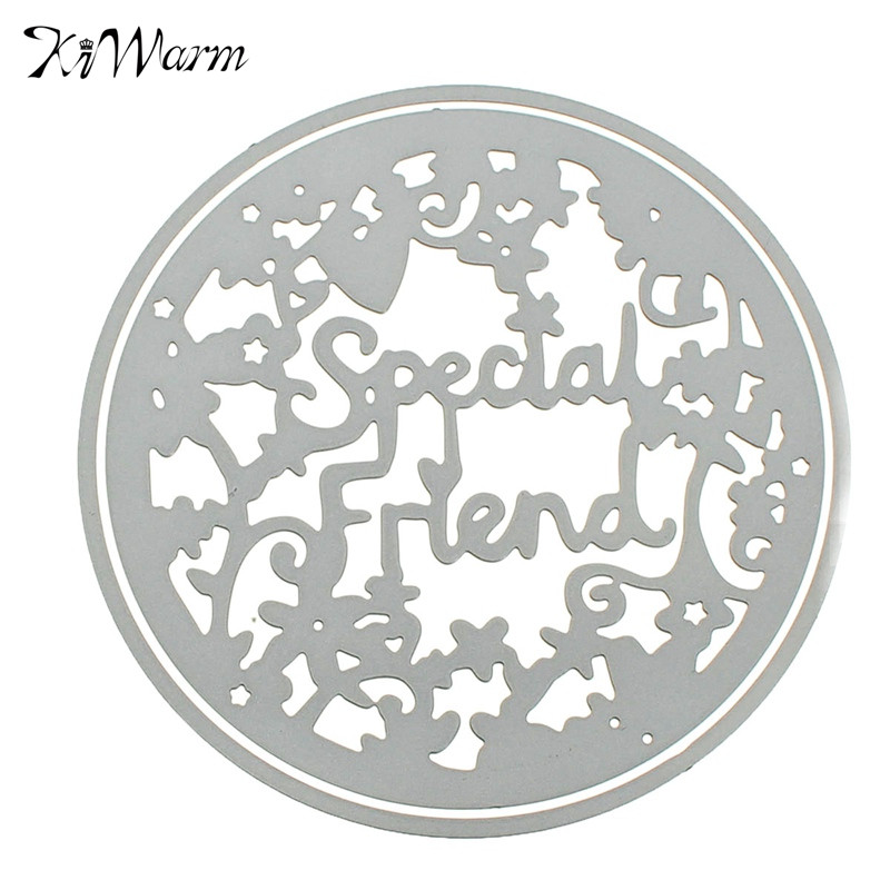 modern diy round lace letter cutting dies stencils template for scrapbooking card album photo art painting