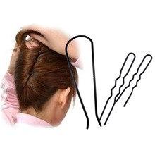 Черная застежка для макияжа, 3 шт., 12 см/10 см/7,5 см, u-образные заколки для волос, зажим, инструмент для женщин, шпилька, парикмахерские стильные инструменты-27