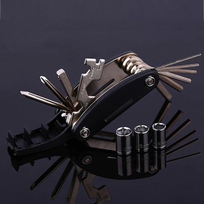 15 in 1 Multi Usage Bike Bicycle Repair Tools Kit Hex Wrench Nut Tools Hex Allen Key Screwdriver Socket Extension Rod