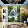 Photo Wallpaper Swan Lake 3D Stereoscopic Landscape Waterfall Landscape Corridor Restaurants Large Mural Green Wall Paper