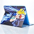 Cartoon Anime Stand PU Leather Case Cover for Apple ipad mini 1 2 3 squirtle charmander bulbasaur Elf Ball Ash Katchum For ipad
