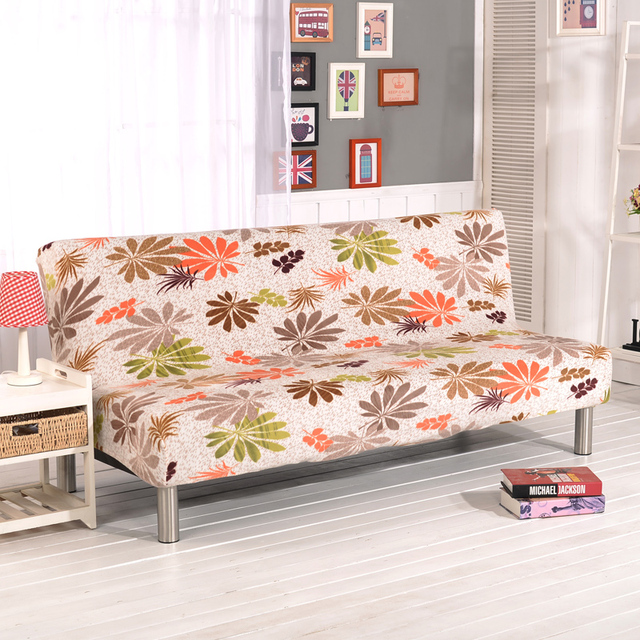 Stretch Sofa Cover Elastic Couch Armless Furniture Covers Bed For Livingroom Youth
