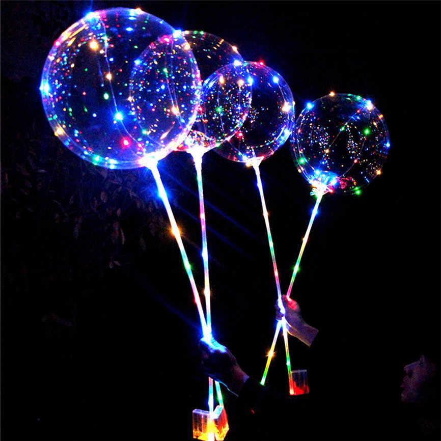 Светодиодный воздушный шар многоразовый светящийся светодиодный прозрачный Круглый Декоративные пузырьки вечерние свадебные для дома enfeies De Natal Nov #1