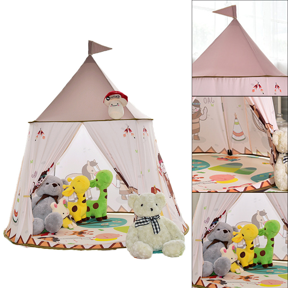 Cartoon Play Tent Portable Foldable Boy Girls Princess Folding Tent Children Boy Play House Kids Outdoor Toy Teepee Tipi Tent red chevron canvas dog tent house pet teepee tipi dog tee pee cat teepee