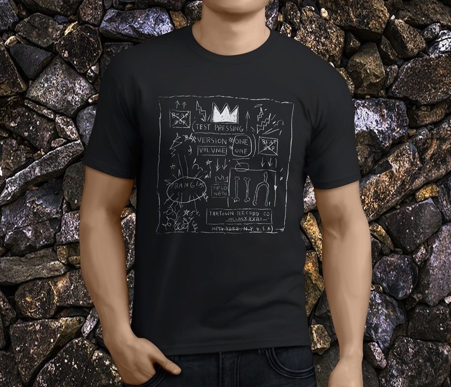 New Popular Jean Michel Basquiat Crown Warhol MenS Black T Shirts Size S 3Xl
