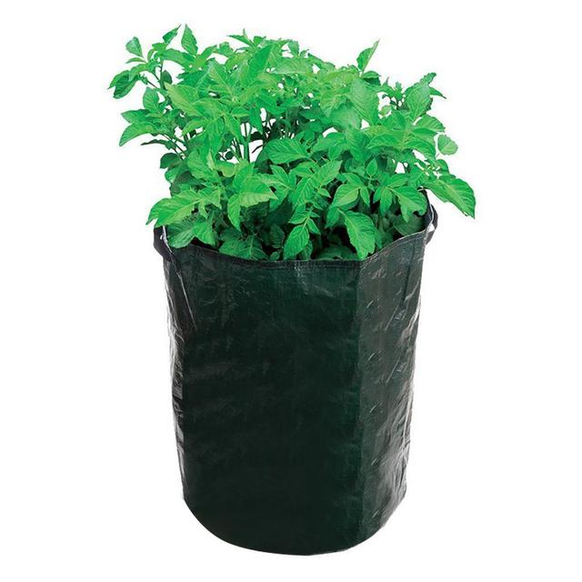 2x Round Plant Pots Grow Bag Pouch Root Container Aeration Fabric Pots  Container PE Flower Potato