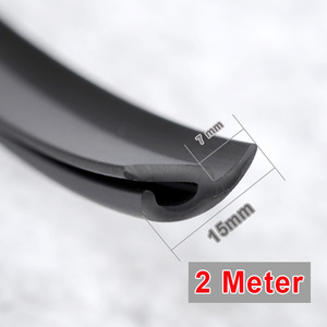 Image 5 - H Type 2 M Rubber Rubber Windshield Elastic Band Front Rear Dashboard Windshield Soundproof Rubber Seal for Car
