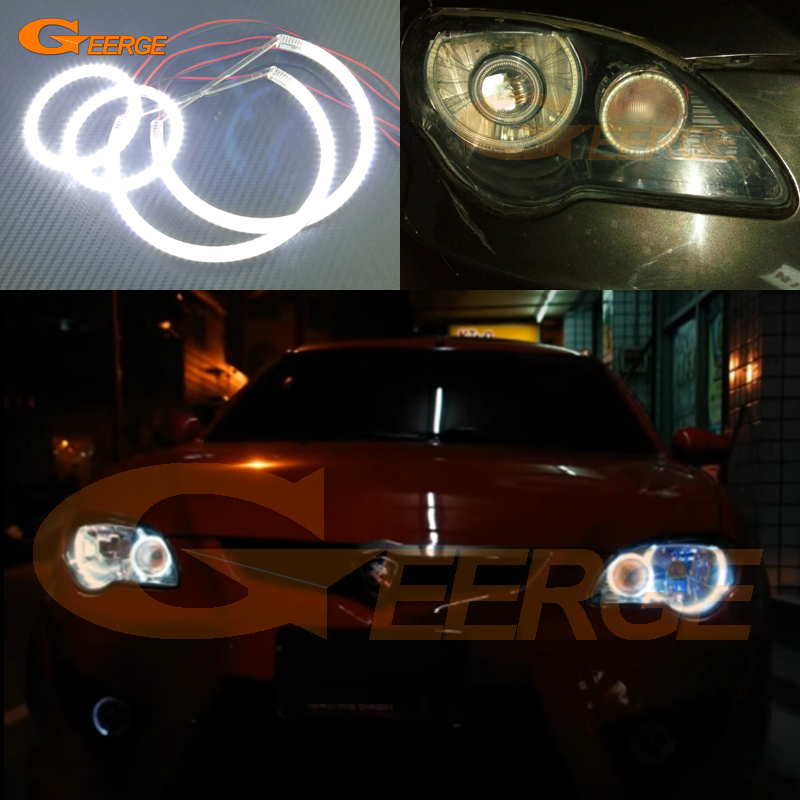 Для Протон Gen-2 2-го поколения 2004-2013 отличная глаза Ангела Ультра яркое освещение Сид SMD глаза Ангела гало кольцо комплект