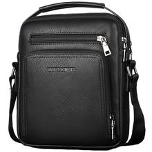 WEIXIER Casual Men Crossbody Bags Pu Leather Messenger Bag Designer Men Handbag Top Male Shoulder Bags