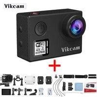 En stock vikcam Icatch V50 acción real 4 K cámaras panason 34112 deporte control WiFi cámaras H.265 codificador de vídeo 170 grados de ángulo