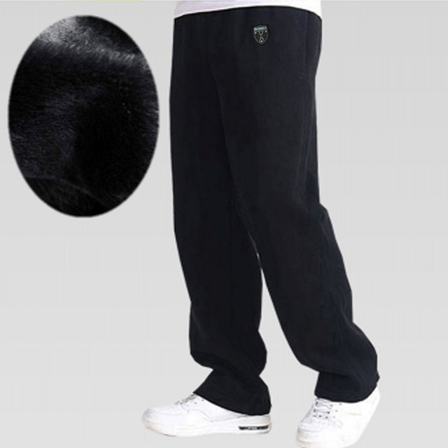Free shipping winter big man pants male plus size plus velvet thickening extra large 100% cotton casual long trousers 5xl-8xl