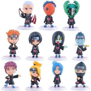 "11PCS/LOT <font><b>Full</b></font> <font><b>Set</b></font> <font><b>Q</b></font> <font><b>Edition</b></font> <font><b>Naruto</b></font> <font><b>Anime</b></font> <font><b>Action</b></font> Figures Collection PVC 3"" <font><b>Naruto</b></font> Figures Model Toy <font><b>Set</b></font> Brinquedos Free Shipping"
