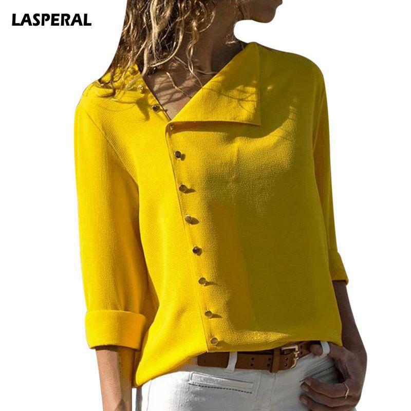 LASPERAL Women Blouse Shirt Long Sleeve