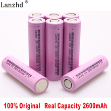 2019 New Original 3.7V ICR18650 For samsung 18650 26F batteries Rechargeable Li-ion battery 2600mAh For Flashlight use(1-8pcs)