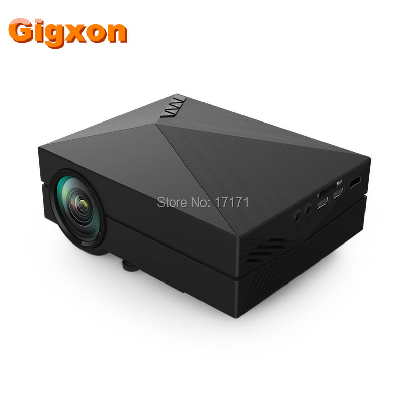 GM60 LCD Projector 1000LM 800 x 480p Portable 1080P Multimedia Player for Home Office Outdoor Support PC USB HDMI AV VGA SD