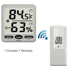 Big discount Indoor/Outdoor LCD Display Digital 433MHz Wireless 8-Channel Thermo-hygrometer with Three Remote Sensors Thermometer Hygrometer