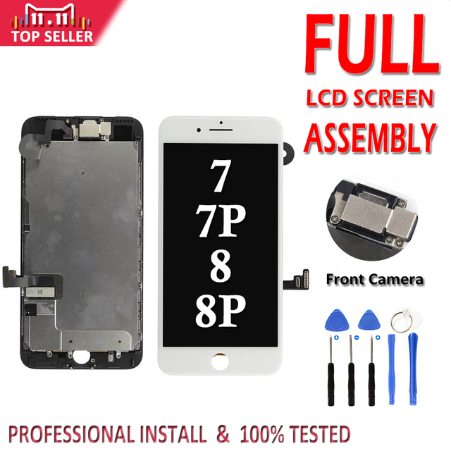 Full Set Complete LCD for iPhone 7 8 Plus 7G LCD Complete Assembly Display Touch Screen Digitizer Replacement with Front Camera