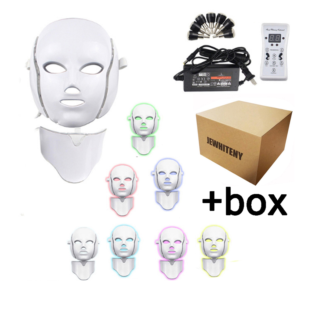 7 Colors Photon Therapy Electric LED Facial Mask Rejuvenation Anti Acne Wrinkle Tightening Skin Microcurrent Beauty Salon Tool(China)